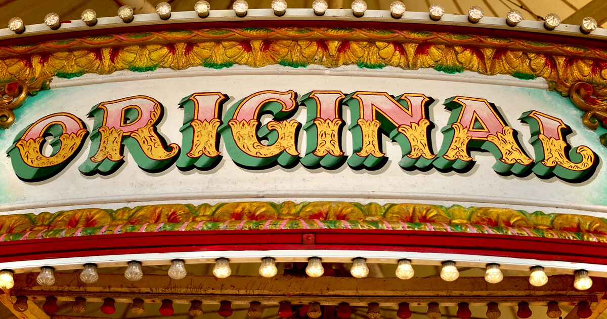 díszes original felirat cirkuszban