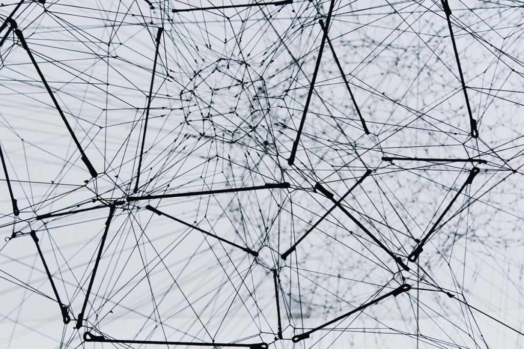 belső hálózat mint a drótok hálózata